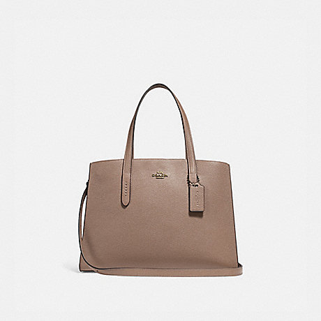 COACH 25137 CHARLIE CARRYALL STONE/GOLD