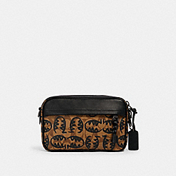 COACH 2526 - GRAHAM CROSSBODY IN SIGNATURE CANVAS WITH REXY BY GUANG YU QB/KHAKI BLACK