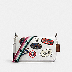 COACH │ MARVEL JES MESSENGER IN SIGNATURE CANVAS WITH PATCHES - 2537 - SV/CHALK MULTI