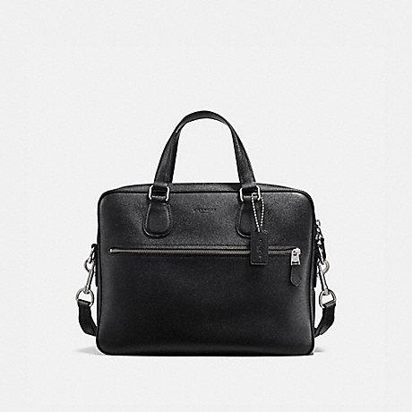 COACH 25514 HUDSON 5 BAG BLACK/SILVER