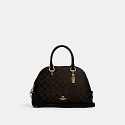 COACH 2558 - KATY SATCHEL IN SIGNATURE CANVAS IM/BROWN BLACK