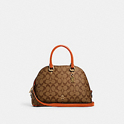 COACH 2558 - KATY SATCHEL IN SIGNATURE CANVAS IM/KHAKI SEDONA