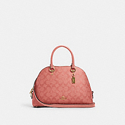 COACH 2558 - KATY SATCHEL IN SIGNATURE CANVAS IM/CANDY PINK