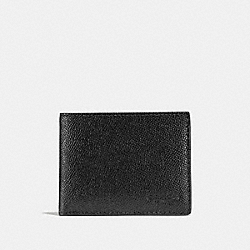 COACH 25606 Slim Billfold Wallet BLACK