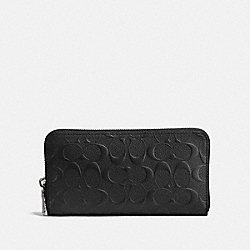 ACCORDION WALLET IN SIGNATURE LEATHER - 25608 - BLACK