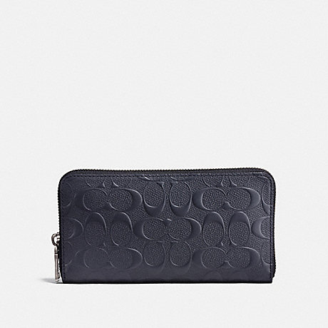 COACH 25608 ACCORDION WALLET IN SIGNATURE LEATHER MIDNIGHT