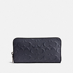 ACCORDION WALLET IN SIGNATURE LEATHER - 25608 - MIDNIGHT