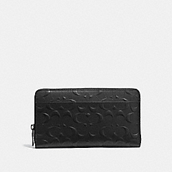 COACH 25683 - DOCUMENT WALLET IN SIGNATURE LEATHER BLACK