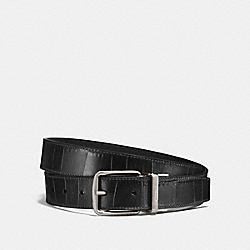 COACH 26056 Harness Buckle Belt, 30mm BLACK/NICKEL