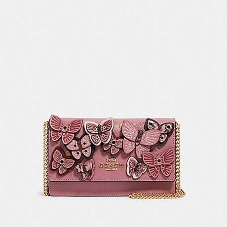 COACH FLAP BELT BAG WITH BUTTERFLY APPLIQUE - IM/ROSE MULTI - 2606