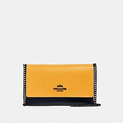 FLAP BELT BAG IN COLORBLOCK - 2611 - QB/MIDNIGHT/ HONEY MULTI