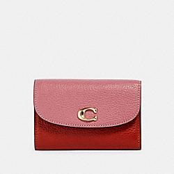 COACH 2621 Remi Medium Envelope Wallet In Colorblock IM/ROSE MULTI