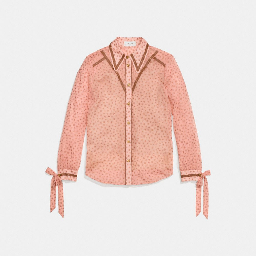 Printed Georgette Blouse, Pink from COACH