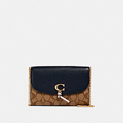 COACH 2624 - REMI CHAIN CROSSBODY IN COLORBLOCK SIGNATURE CANVAS IM/KHAKI/ MIDNIGHT MULTI