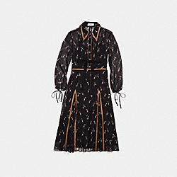 COACH 26375 Embellished Penguin Shirt Dress BLACK