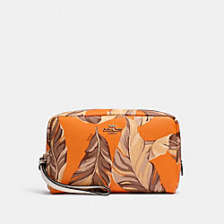COACH 2638 - BOXY COSMETIC CASE WITH BANANA LEAVES PRINT IM/REDWOOD SUNBEAM MULTI