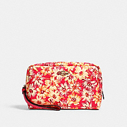 COACH 2639 - BOXY COSMETIC CASE WITH VINTAGE DAISY SCRIPT PRINT IM/PINK MULTI