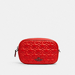 COACH 2642 Convertible Belt Bag With Mini Star Quilting QB/MIAMI RED