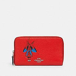 COACH 2644 Coach │ Marvel Medium Zip Around Wallet With Spider-man SV/MIAMI RED MULTI