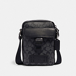 COACH 2666 - RANGER CROSSBODY IN SIGNATURE CANVAS QB/CHARCOAL BLACK
