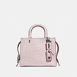 COACH 26839 Rogue 25 In Signature Leather With Floral Bow Print Interior BP/ICE PINK