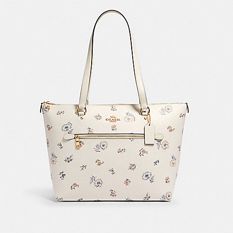 COACH 2713 GALLERY TOTE WITH DANDELION FLORAL PRINT IM/CHALK/-BLUE-MULTI