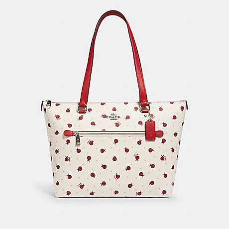 COACH 2720 GALLERY TOTE WITH LADYBUG PRINT SV/CHALK/-RED-MULTI