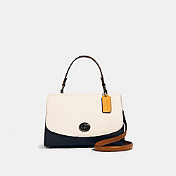 TILLY TOP HANDLE IN COLORBLOCK - 2728 - QB/CHALK MULTI