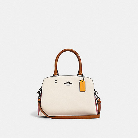 COACH 2731 MINI LILLIE CARRYALL IN COLORBLOCK QB/CHALK MULTI