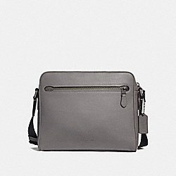 COACH 27411 Metropolitan Camera Bag HEATHER GREY/BLACK ANTIQUE NICKEL