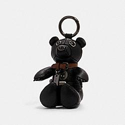 COACH 2750 Coach │ Marvel Black Panther Collectible Bear Bag Charm QB/BLACK