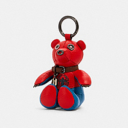 COACH 2751 Coach │ Marvel Spider-man Collectible Bear Bag Charm SV/BLUEJAY/RED
