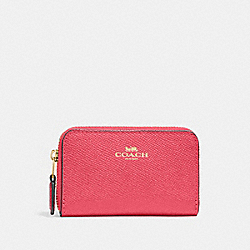 COACH 27569 - ZIP AROUND COIN CASE IM/FUCHSIA