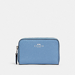 COACH 27569 Zip Around Coin Case SV/SLATE