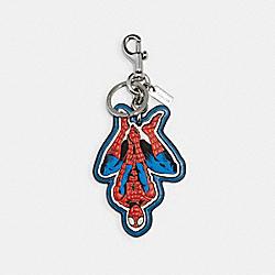 COACH 2756 Coach │ Marvel Spider-man Bag Charm SV/BLUEJAY/RED