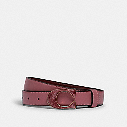 COACH 2775 - SIGNATURE BUCKLE BELT, 25M IM/ROSE