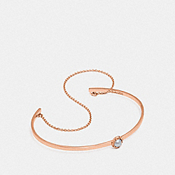 COACH 27834 - DEMI-FINE SUNBURST CHAIN CUFF GREY/ROSE GOLD