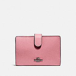 COACH 27968 Medium Corner Zip Wallet GM/TRUE PINK