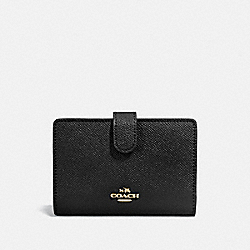 COACH 27968 - MEDIUM CORNER ZIP WALLET LI/BLACK