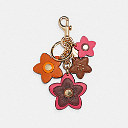 COACH 2803 Wildflower Mix Bag Charm IM/ELECTRIC PINK