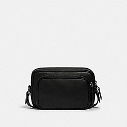 MINI EDGE DOUBLE POUCH CROSSBODY - 2810 - QB/BLACK