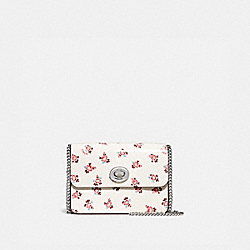 BOWERY CROSSBODY WITH FLORAL BLOOM PRINT - 28184 - CHALK/SILVER