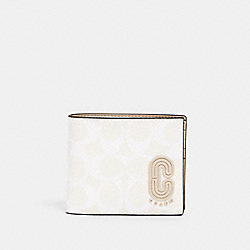 COACH 2838 - 3-IN-1 WALLET IN SIGNATURE CANVAS WITH COACH PATCH QB/CHALK STEAM