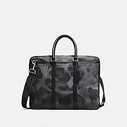 COACH 28490 - METROPOLITAN SLIM BRIEF WITH WILD BEAST PRINT QB/CHARCOAL