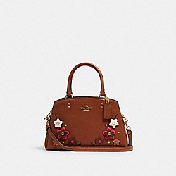 COACH 2849 Mini Lillie Carryall With Daisy Applique IM/REDWOOD MULTI