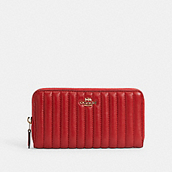 ACCORDION ZIP WALLET WITH QUILTING - 2855 - IM/1941 RED