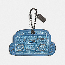 COACH X KEITH HARING HANGTAG - 28599 - SKY BLUE/BLACK