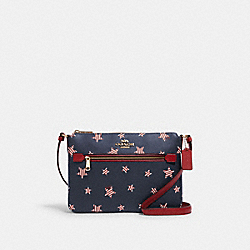 GALLERY FILE BAG WITH AMERICANA STAR PRINT - 2862 - IM/NAVY/ RED MULTI