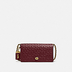 COACH 28631 - DINKY IN SIGNATURE LEATHER OL/BORDEAUX