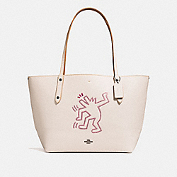 COACH 28646 - COACH X KEITH HARING MARKET TOTE CHALK/BLACK COPPER